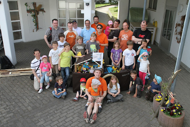Die Teilnehmer des Kolping-Vater-Kind-Wochenendes in Herbstein.
